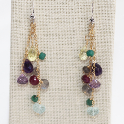 Advanced Earrings Design with Multi Gemstone Clusters