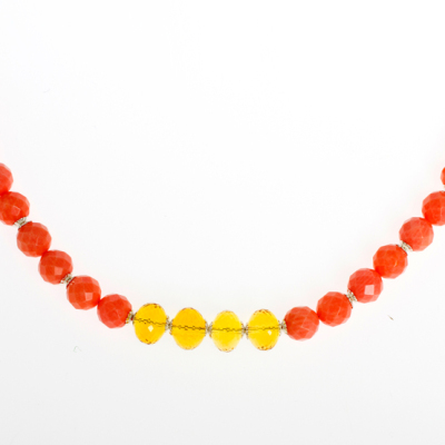 Beginner Strung Necklace Design with Carnelian Citrine Gemstones