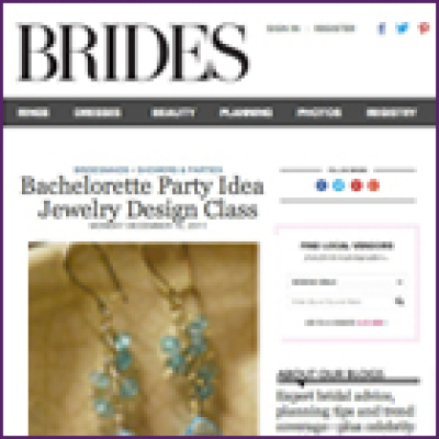 Brides Magazine Bachelorette and Wedding Party Jewelry Making Event, December 2011