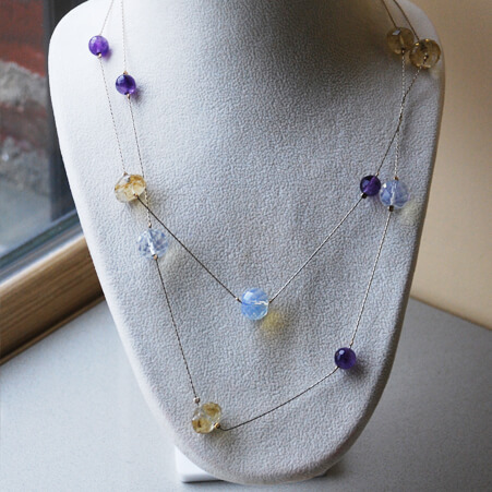 French Necklace Design with Beading Chain from Specfic Skills Class