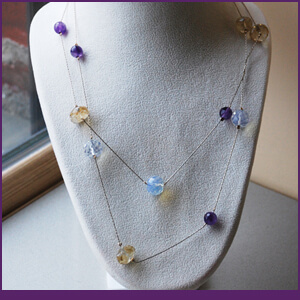 French Necklace Design with Beading Chain from Specific Skills Jewelry Class