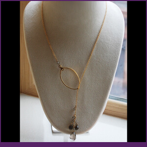 Lariat Design Necklace from Specific Skills Jewelry Class