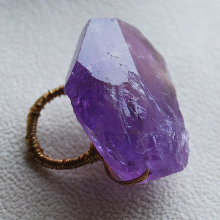Ring Design with Amethyst Stone and Gold from Specfic Skills Class