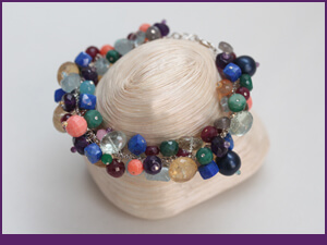 Specific Skills Cluster Bracelet Workshop Example with Mixed Gemstones