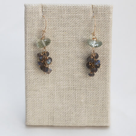 Tassel Earrings with Praesolite and Labradorite from Specfic Skills Class