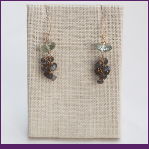 Tassel Earrings Design with Praesolite and Labradorite from Specific Skills Jewelry Class
