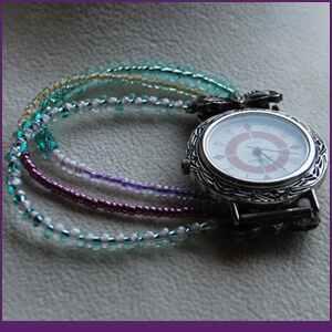 Watch Design Class with Vintage Piece and Seed Beads from Specific Skills Jewelry Class