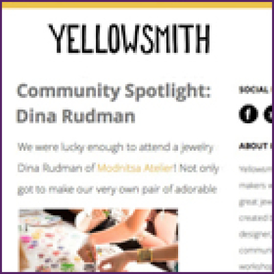 Yellowsmith Spotlight on Jewelry Making Class, June 2013